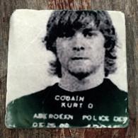 Kurt Cobain MugShot Tile Coaster