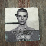 David Bowie Mugshot Tile Coaster