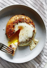 Egg in a Bagel Hole