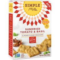 Sun-dried Tomato & Basil Almond Flour Crackers