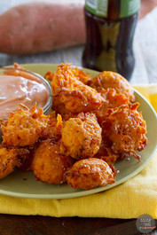 Sweet Potato Tots with Creamy Ketchup