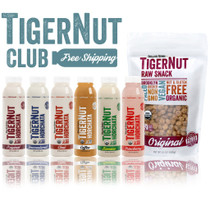 Organic Gemini TIGERNUT CLUB • 12 Bottles of Horchata, Tigernut Snacks