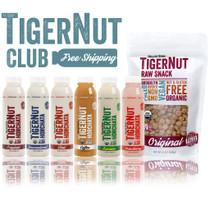 Organic Gemini TIGERNUT CLUB • 12 Bottles of Horchata, Tigernut Snacks