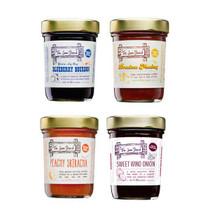 The Jam Stand 4 Pack - Blueberry Bourbon, Peachy Sriracha, Drunken Monkey & Swee Wino Onion