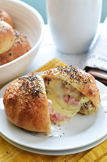 Ham Amp Cheese Everything Stuffed Bagel Bomb Bites