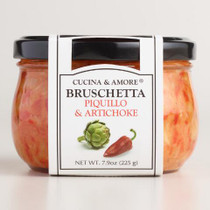 Cucina & Amore Piquillo Pepper Bruschetta,  7.9 Oz. Set of 6