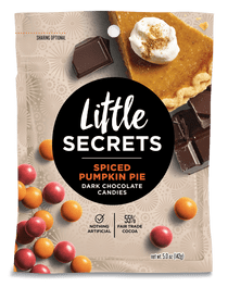 Little Secrets 5 oz Candies, 4 Pack (Spiced Pumpkin Pie Dark Chocolate)