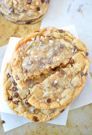 Chewy Salted Toffee Chocolate Chip Cookies - 1 Dozen