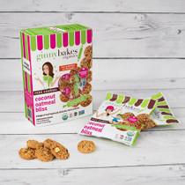 coconut oatmeal bliss | minis 6 pack - ginny bakes organics