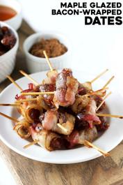 Maple Glazed Bacon-Wrapped Dates
