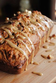 Caramel Apple Glazed Bread