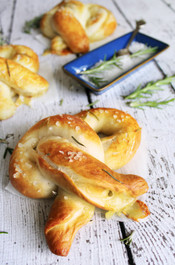 Brie-Stuffed Soft Pretzels with Rosemary & Sea Salt - Includes 6