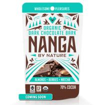 Almonds Berries Matcha Organic Dark Chocolate Bark / 12 Pack