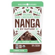 Nibs Peppermint Hemp Seed Organic Dark Chocolate Bark / 12 Pack