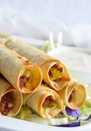 Reuben Stuffed Baked Taquitos
