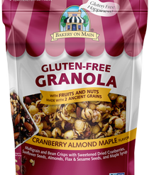 Cranberry Almond Maple flavor Granola Gluten Free - Sleeve of 12 Snack Packs