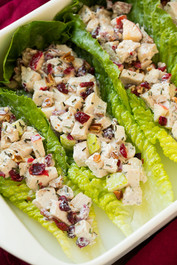 Apple Pecan Rosemary Greek Yogurt Chicken Salad