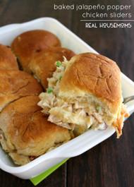 Baked Jalapeño Popper Chicken Sliders
