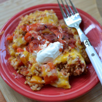 Chicken Fajita Rice Casserole