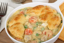 Baked Chicken Pot Pie w/ Biscuit Crust