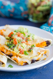 Crispy Baked Black Bean & Sweet Potato Tacos