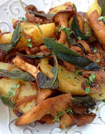 Chanterelle Mushrooms & Crispy Sage Potatoes