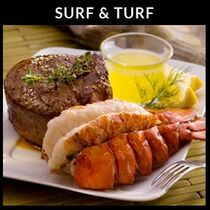 Surf & Turf - 4 Filet Mignons & Lobster Tails