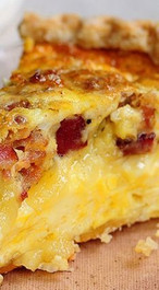 Brie & Bacon Quiche - serves 6
