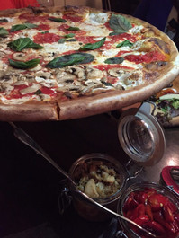 "Coal Oven Mushroom with White Truffle Oil 10"" Pizza Pie - 2 pizza pies"