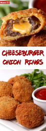 Cheeseburger Stuffed Onion Rings