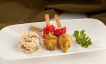 Marrakesh Chicken Skewers - 25 pieces per tray