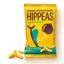 Hippeas Organic Chickpea Puffs Vegan White Cheddar 4 oz Pack of 10