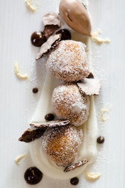 Beignets with Chocolate Sauce