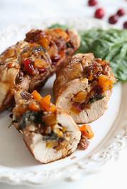 Butternut Stuffed Turkey Tenderloin w/Cranberries and Pecans  - 2 1/2 lbs. Serves 6 - 8