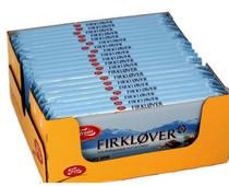 FREIA FIRKLOVER Milk Chocolate with Hazelnut 200g - Case