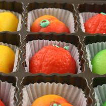 Assorted Marzipan Fruit - 9 Piece