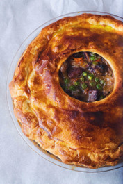 Beef Bourguignon Pot Pie - Serves 6