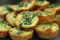 Mini Quiche Florentine - 100 pieces per tray