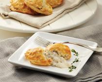 Chicken Sausage & Gravy Buttermilk Turnovers - 96 pieces per tray