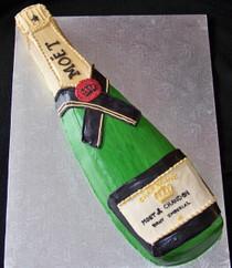 Champagne Bottle Cake - price per serving