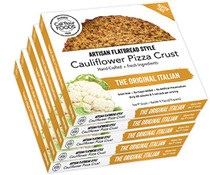 Cali'flour Foods Gluten Free, Low Carb Califlower Original Italian Pizza Crusts - 10 Total Crusts