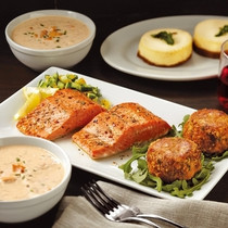 Dinner for Two featuring Sockeye Salmon Fillets