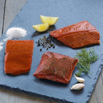 Flavored Smoked Wild Sockeye Salmon Trio
