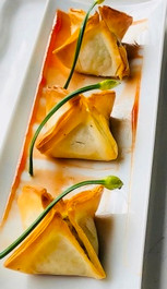 Golden Beet & Goat Cheese Phyllo Stars - 60 pieces per tray