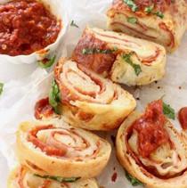 Mini Stuffed Pizza Bread Slices - 50 pieces per tray