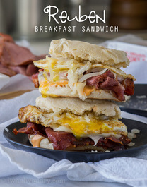 Reuben Breakfast Sandwich