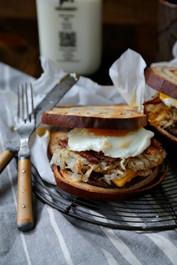 Cinnamon Swirl Loaded Breakfast Sandwich