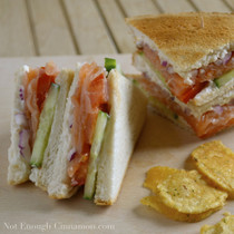 Smoked Salmon Club Sandwich