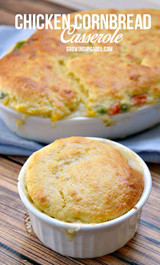 Cornbread Chicken Pot Pie Casserole
