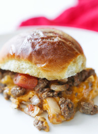 Baked Cheesy Beef Sliders
